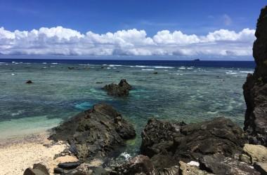 笠利:岬付近の海